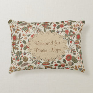 Vintage Botanical Tapestry Reserved for Power Naps Decorative Cushion