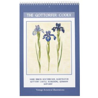 Vintage Botanical  - The Gottorfer Codex 2018 Wall Calendars