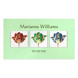 Vintage Botanical Tulips Pop Art Mommy Card Pack Of Standard Business Cards
