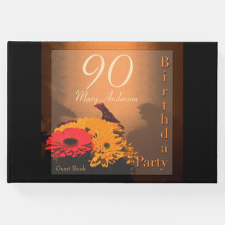 Vintage Bouquet 90th Birthday Party Guest Book