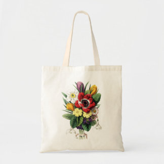 Vintage Bouquet Colorful Flowers Display Bag