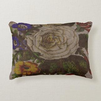 """Vintage Bouquet Cotton Accent Pillow 16"""" x 12"""""""