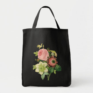 Vintage Bouquet Floral Tote Bag