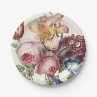 Vintage Bouquet Paper Plate