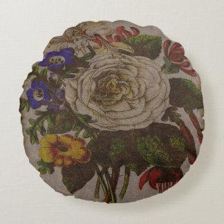 "Vintage Bouquet Round Throw Pillow (16"")"