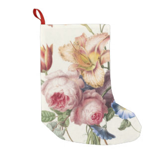 Vintage Bouquet Small Christmas Stocking