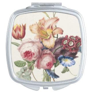 Vintage Bouquet Travel Mirrors