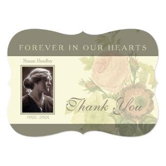 Vintage Bouquet with frame Sympathy Thank You I 13 Cm X 18 Cm Invitation Card