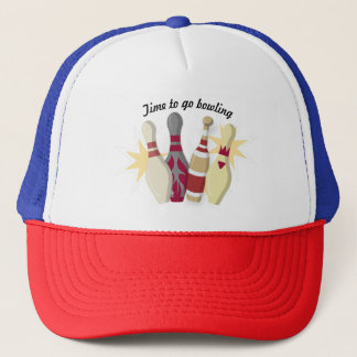 Vintage Bowling Themed Trucker Hat