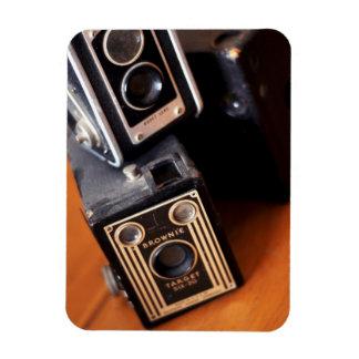 Vintage Box Cameras Rectangular Photo Magnet