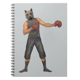 Vintage Boxer Westie Notebook