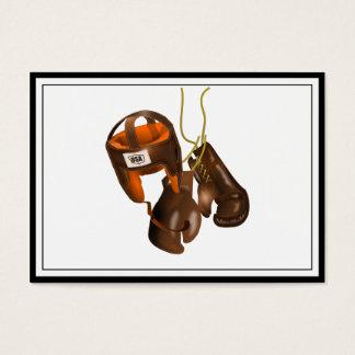 Vintage Boxing Gloves and Helmet