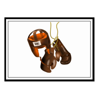 Vintage Boxing Gloves and Helmet Pack Of Chubby Business Cards