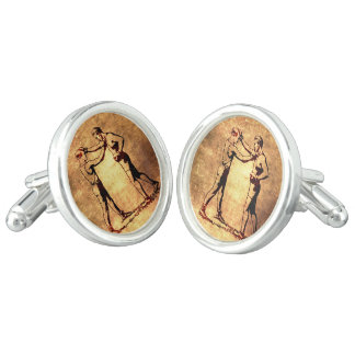 Vintage boxing men cuff links