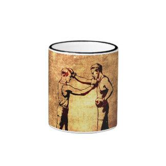 Vintage boxing men ringer mug