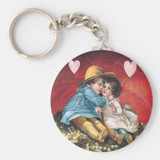 Vintage Boy and Girl Valentine Keychain
