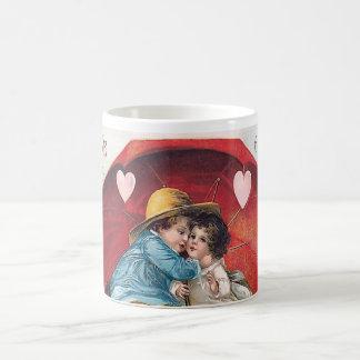 Vintage Boy and Girl Valentine Mug