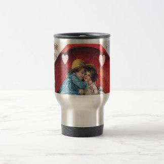 Vintage Boy and Girl Valentine Travel Mug