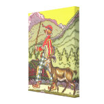 Vintage Boy and the North Wind Fairy Tale; Hauman Stretched Canvas Print