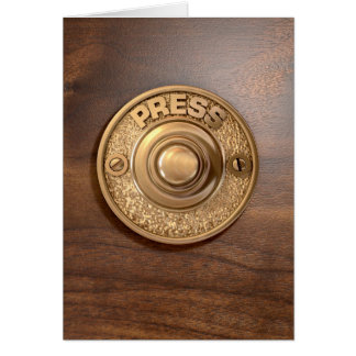 Vintage Brass Doorbell Card
