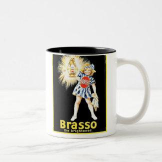 Vintage Brasso Ad Two-Tone Mug