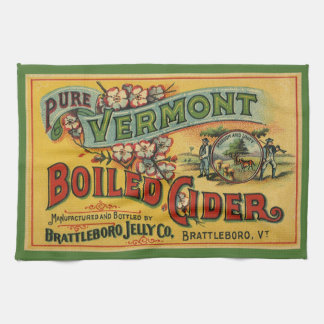 Vintage Brattleboro Jelly Boiled Cider Vermont Hand Towels