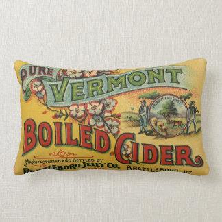 Vintage Brattleboro Jelly Boiled Cider Vermont Lumbar Cushion