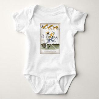 vintage brazil left wing footballer baby bodysuit