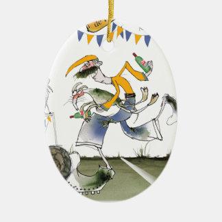 vintage brazil left wing footballer ceramic ornament
