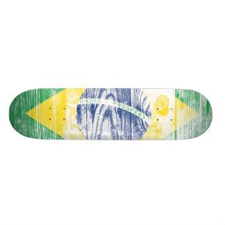 Vintage Brazil national flag White skateboard