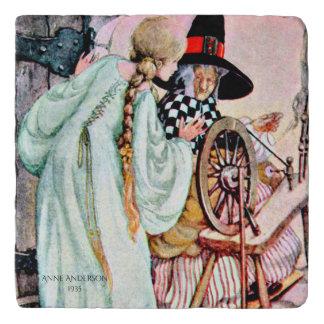 Vintage Briar Rose Sleeping Beauty, Anne Anderson Trivet