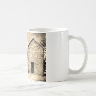 Vintage Brick Homestead Buildings Basic White Mug