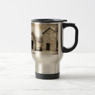 Vintage Brick Homestead Buildings Stainless Steel Travel Mug