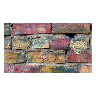 Vintage Bricks Background Pack Of Standard Business Cards