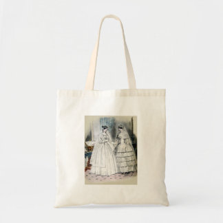 Vintage Bridal Brides Antique White Wedding Budget Tote Bag
