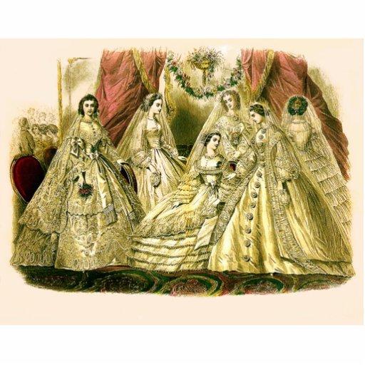 Vintage Bridal Brides Antique White Wedding Acrylic Cut Outs
