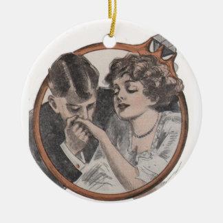 Vintage Bridal Engagement Ornament Gift