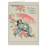Vintage Bridal Shower Greeting Card