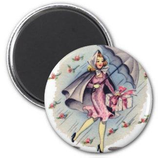 Vintage Bridal Shower Guest Magnets