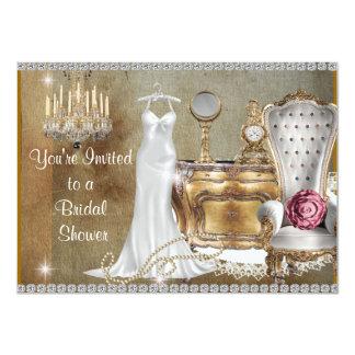 VINTAGE BRIDAL SHOWER INVITATION FAUX background