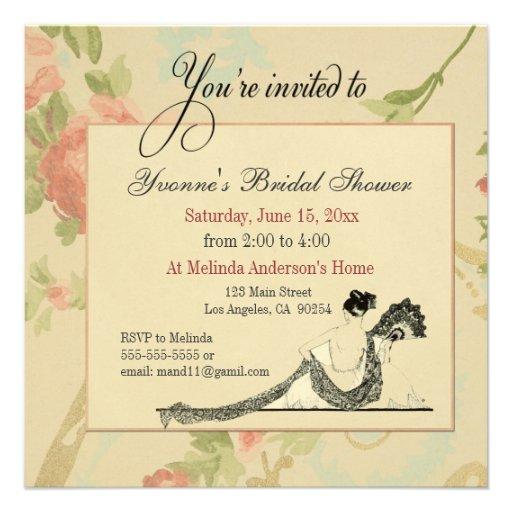 Vintage Bridal Shower Invitation Template