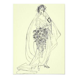 vintage bridal shower invite