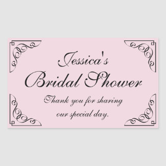 Vintage bridal shower party favor stickers