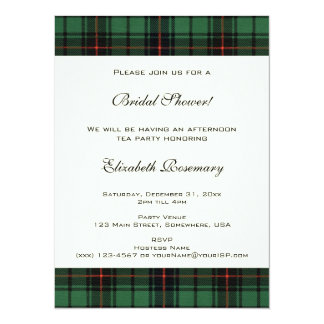 Vintage Bridal Shower, Tartan Davidson Pattern Card