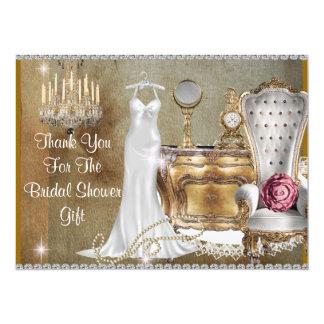 VINTAGE BRIDAL SHOWER THANK YOU CARD
