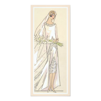 Vintage Bride 10 Cm X 24 Cm Invitation Card