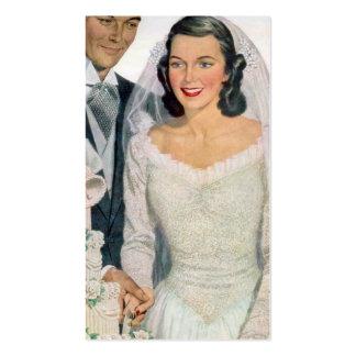 Vintage Bride and Groom Pack Of Standard Business Cards