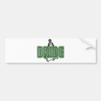 Vintage Bride Bumper Sticker