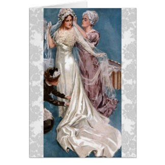 Vintage Bride Greeting Card