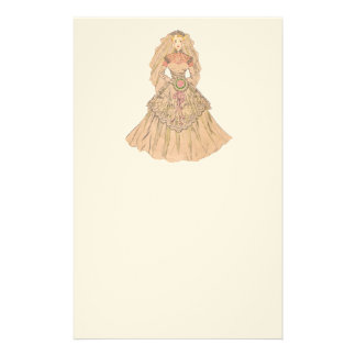 Vintage Bride Personalized Stationery